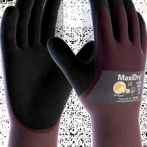Guanti MaxiDry® 56-425 Rivestimento ¾, polso a maglia