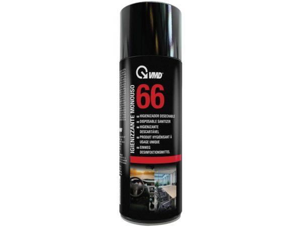 Vmd 66 Igienizzante Monouso, 200 ml, Nero,